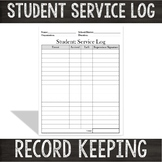 Volunteer Documentation Sheet:  Student Volunteer Service Log