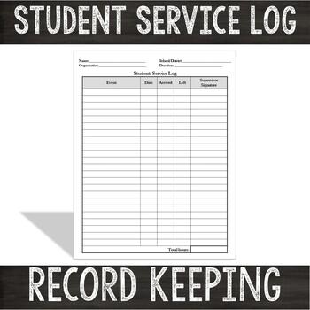 Volunteer Documentation Sheet:  Student Volunteer Service Log