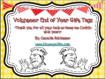 Volunteer End of Year Gift Tag - Cookin'