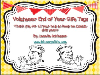 Volunteer End of Year Gift Tag - Cookin'