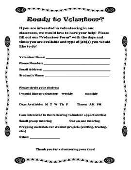 Volunteer Form