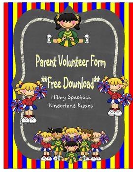 Volunteer Form - Free Download!!