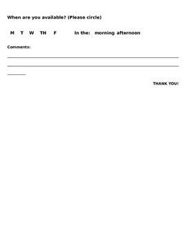Volunteer Form for Parents (Northside ISD)