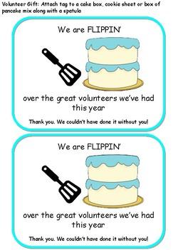 "Volunteer Gift- ""Flippin"" over you"
