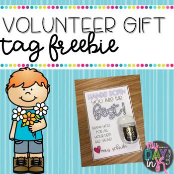 Volunteer Gift Tag Freebie