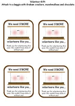"Volunteer Gift- We need ""Smore"" volunteers like you"
