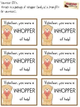 Volunteer Gift- Whoppers