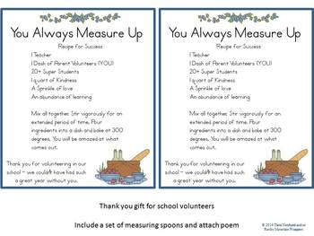 Volunteer Gift: You Measure Up