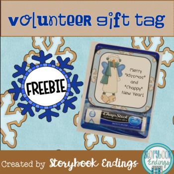 Volunteer Holiday Gift Tag Freebie