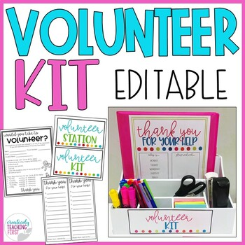 Volunteer Kit EDITABLE