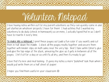 Volunteer Notepad