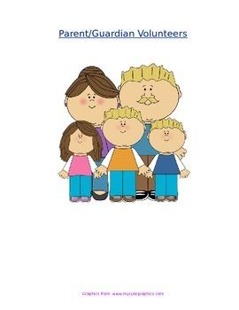 Volunteer Opportunities for Parents