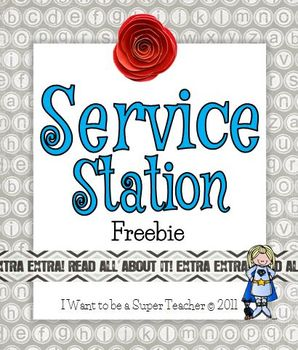 "Volunteer Sign ""Service Station"" Freebie"