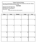 Volunteer Sign Up Calendar