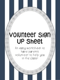Volunteer Sign Up Paper