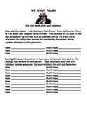 Volunteer Sign Up Sheet for Open House