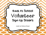 Volunteer Sign-Up Sheets for Back to School Night