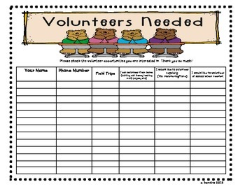 Volunteer Sign-in