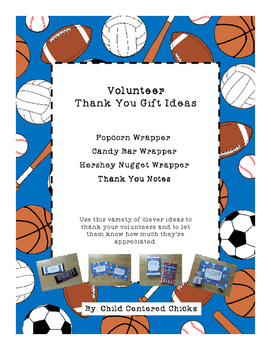 Volunteer Thank You Gift Ideas - Blue Sports Theme