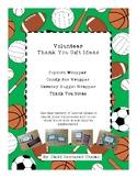 Volunteer Thank You Gift Ideas – Green Sports Theme
