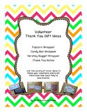 Volunteer Thank You Gift Ideas - Multicolor Chevron Owl Theme