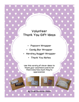 Volunteer Thank You Gift Ideas - Purple and Green Owl Theme
