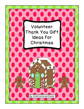 Volunteer Thank You Gift Ideas for Christmas