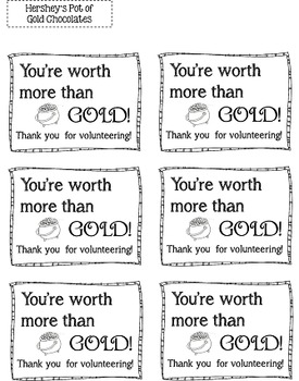 Volunteer Thank-You Gift Tags (Doodle Theme)