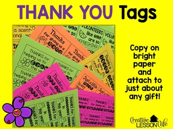 Volunteer Thank You Gifts: Tags {Freebie}