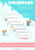 Volunteer Thank You Notes
