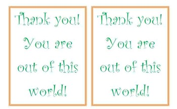 Volunteer Thank You Tags/Cards