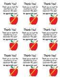 Volunteer Thank You Tags