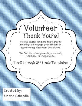 Volunteer Thank You Template Freebie