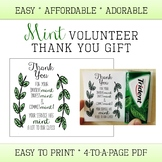 Volunteer Thank you Gift - Appreciation - Easy  - Mint