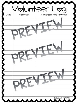 Volunteer Tracking Forms