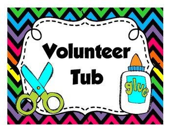 Volunteer Tub Label