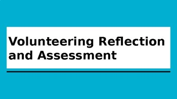 Volunteering Guided Reflection (Slides)