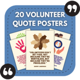 Volunteering Posters - 20 Positive Quotes About Volunteeri