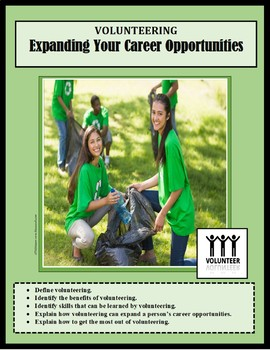 Career Exploration, VOLUNTEERING, VOLUNTEERISM, career lessons, vocational