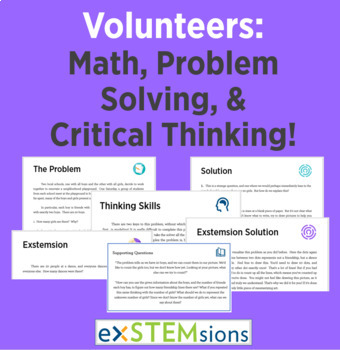 Volunteers: Math, Problem Solving and Critical Thinking!
