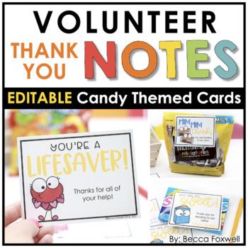 Volunteers are sweet candy themed volunteer thank you notes tpt volunteers are sweet candy themed volunteer thank you notes thecheapjerseys Gallery