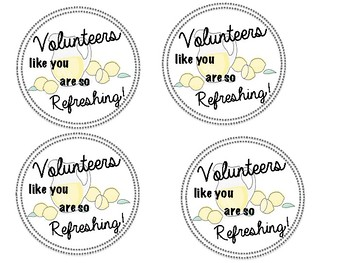 Volunteers like you are Refreshing!