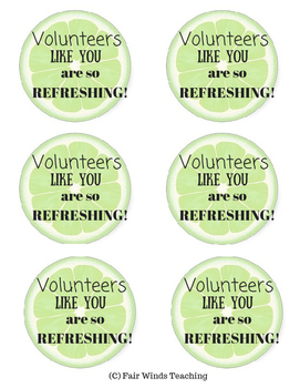 Volunteers like you are so Refreshing!