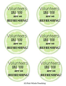 Volunteers like you are refreshing!