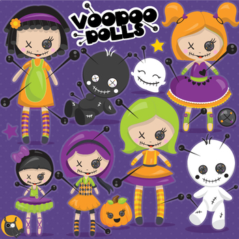 Voodoo dolls clipart commercial use, vector graphics  - CL1102