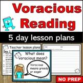 Voracious Reading lesson plans
