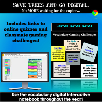Vocabulary Activities, Bell Ringers, Graphic Organizers for Google Classroom