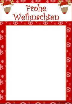 Vorlage Rentier Weihnachtskarte Fingerabdruck By Klassenkunst Tpt