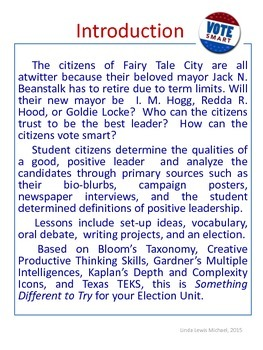 Vote Smart- Elections in Fairy Tale City