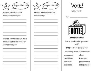 Vote Trifold - Wonders 3rd Grade Unit 2 Week 3